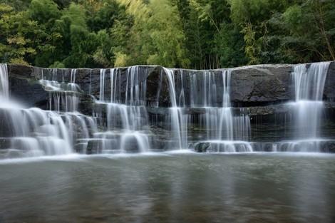 滝をNDフィルターで撮影