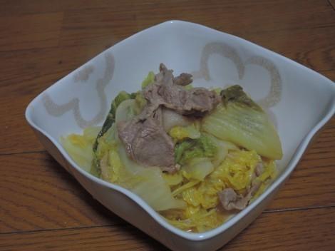 オイスターソースで白菜の煮浸し