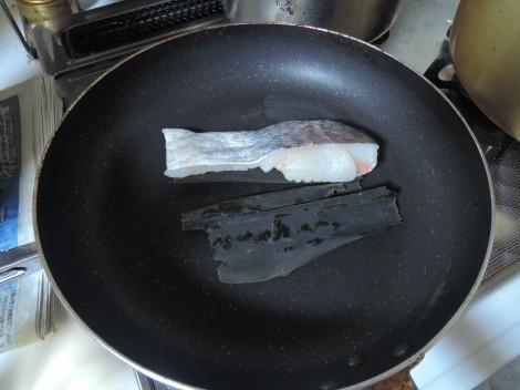 鯛の昆布バター蒸し