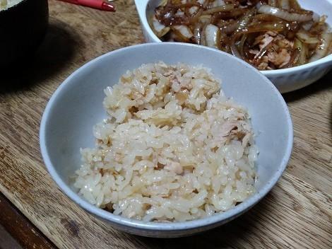 なめ茸とツナ缶で炊き込みご飯