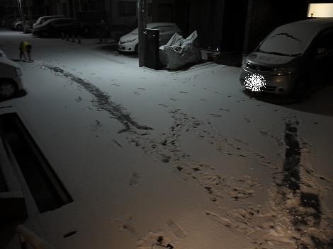 神戸市西区、久しぶりの雪