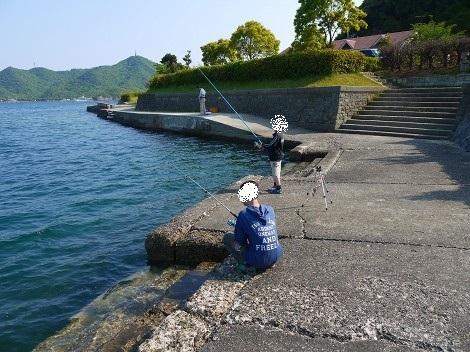 休暇村南淡路 オートキャンプ場での海釣り